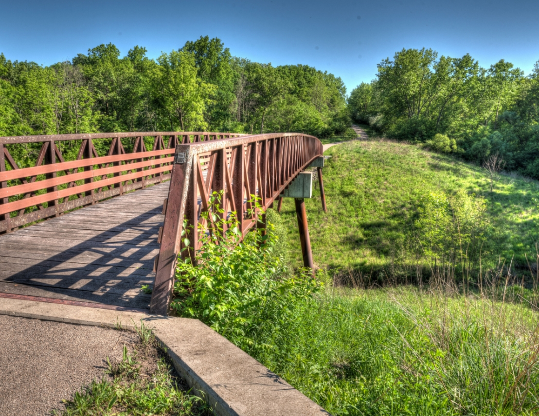 A bridge at Raceway Woods